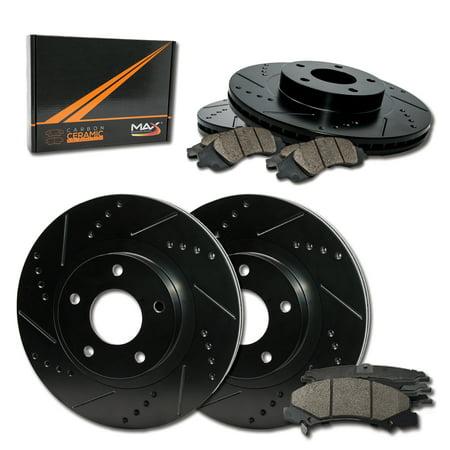 KT103643 Max Brakes Front /& Rear Premium Brake Kit Fits: 2009 09 Suzuki SX4 w//Rear Disc Brakes OE Series Rotors + Ceramic Pads