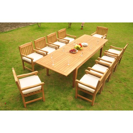 Teak Dining Set 10 Seater 11 Pc Large