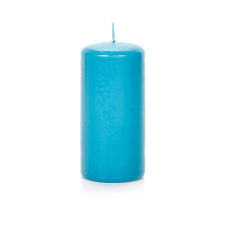 Pillar Candle - Blue - Scented - 2.5 x 5.8 inches 4' Scented Textured Pillar