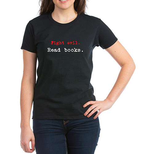 Womens Fight Evil. Read Books. T-Shirt