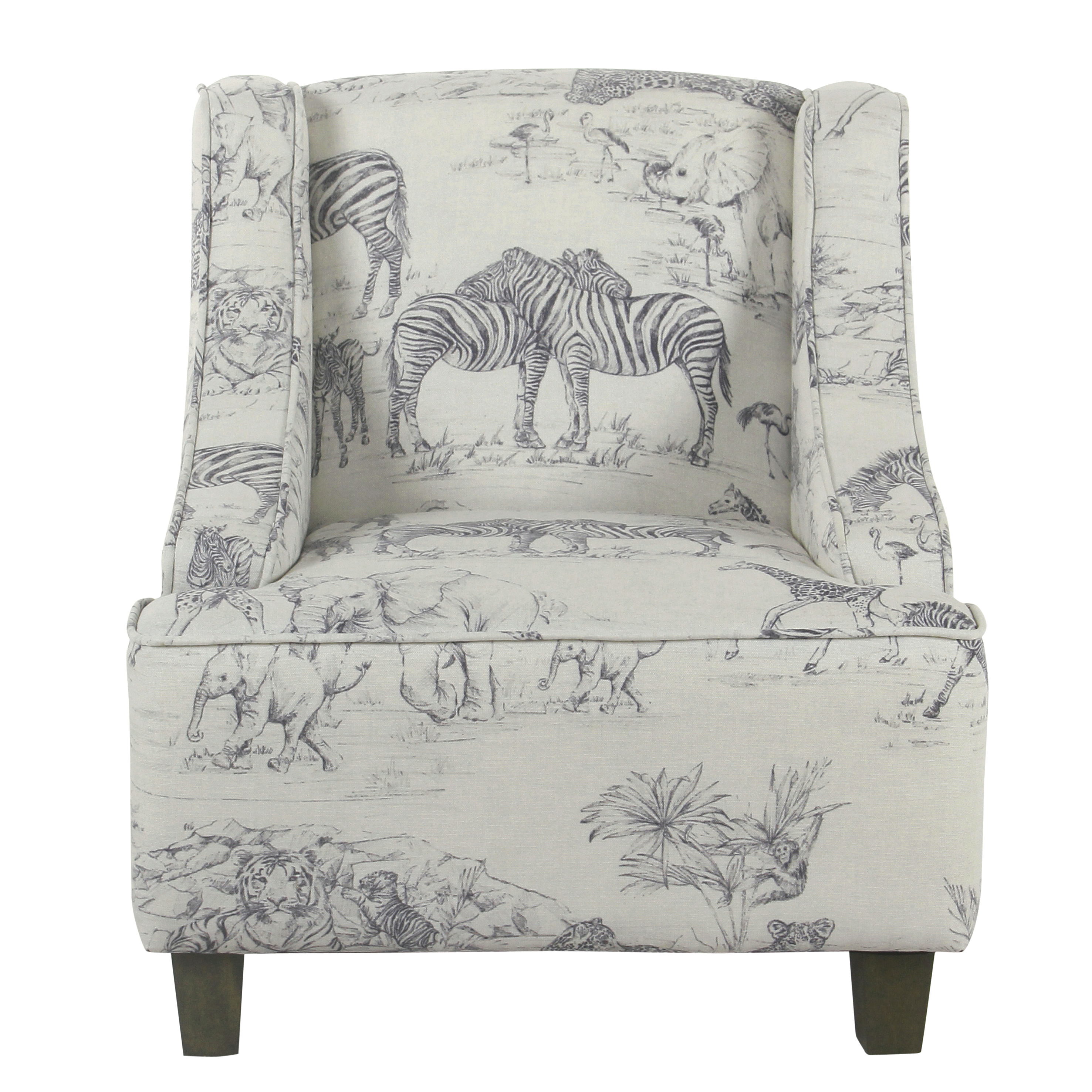 HomePop Cameron Juvenile Swoop Arm Accent Chair by Kinfine USA Inc