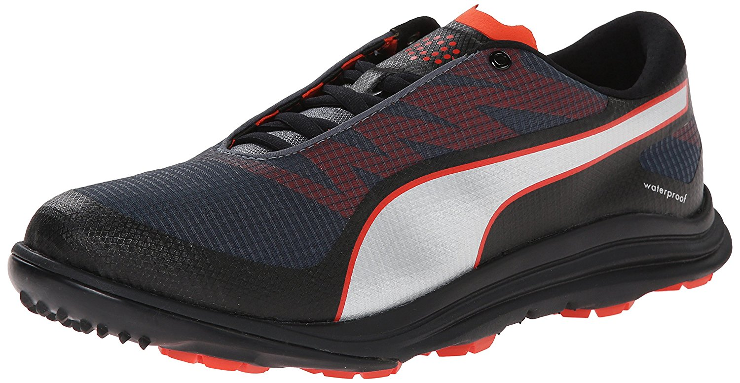Puma Men's Biodrive Golf Shoes Black Turbulence Puma Red by