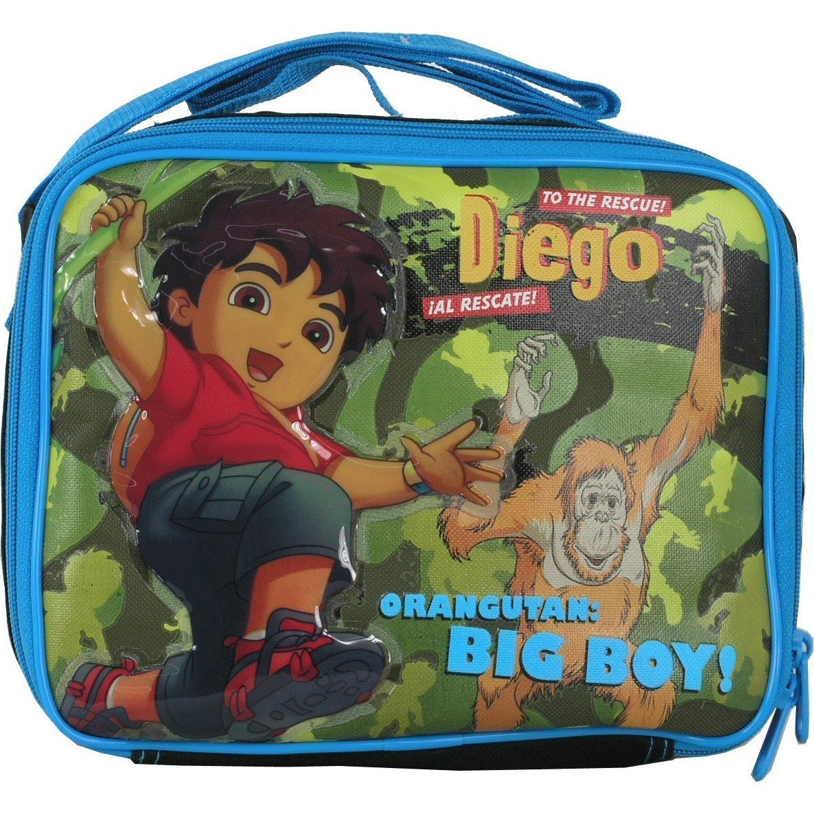 Lunch Bag - Go Diego Go - Jump in the Forest  Blue Boys Toys New Case 812888