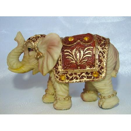 Ivory Color Elephant Figurine
