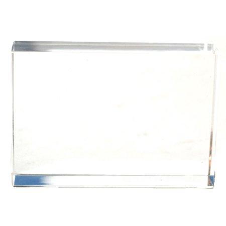 - Eisco Labs Acrylic Rectangular Block; 75mm X 50mm X 18mm Size