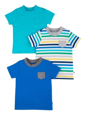 7492fb9a8 Product Image Short Sleeve Pure Organic True Brights Shirts, Pocket Tee, 3  Pk (Baby Boys