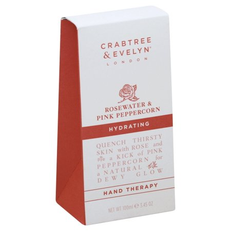 Crabtree & Evelyn Rosewater & Pink Peppercorn Hydrating Hand Therapy 3.45fl.oz/100ml