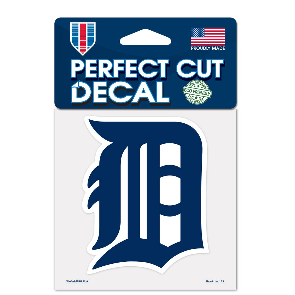 Detroit Tigers Official MLB 4 inch x 4 inch  Die Cut Car Decal by Wincraft