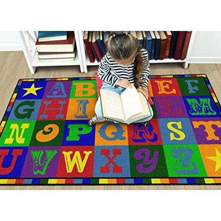 Flagship Carpets CE191-22W Tapis Early Blocks, 4 x 6 pi - Rectangle - image 3 de 4
