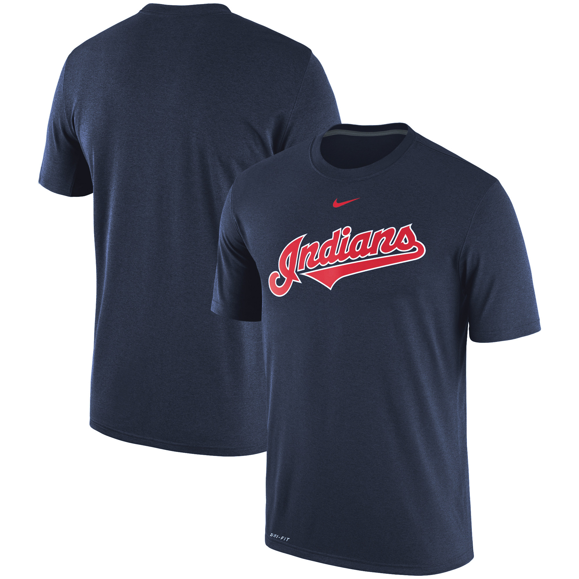 Cleveland Indians Nike Legend Primary Logo Performance T-Shirt - Navy