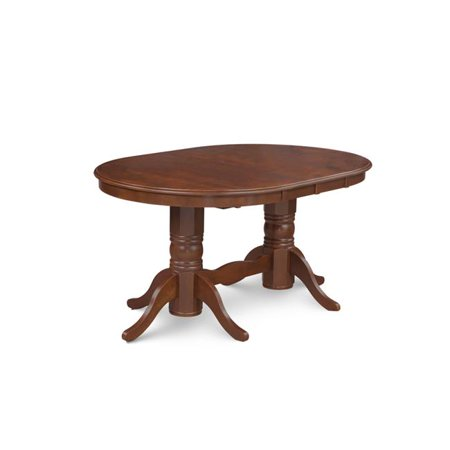 M D Furniture Sot Esp Tp Somerville Oval Shaped Dining Table With 18 Erfly Leaf In Espresso Finish