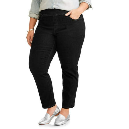 Women's Plus Size 2 Pocket Pull On Pant, Also Available in Petite (Plush Velvet Pant)