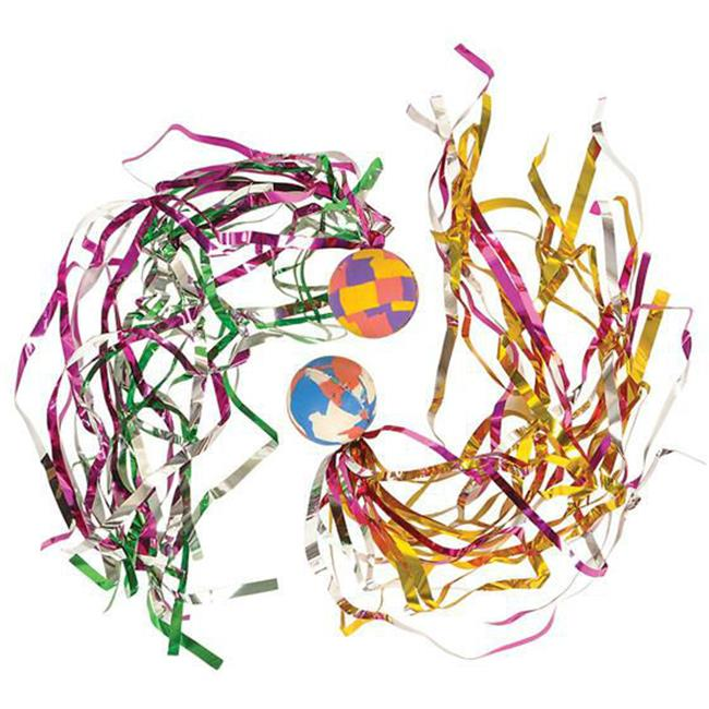 DDI 1945155 32 mm Comet Ball with Streamers, Case of 720