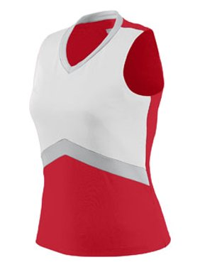 Augusta Sportswear XS Girls' Cheerflex Shell Red/White/Metallic Silver 9201