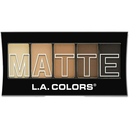 2 Pack - L.A. Colors 5 Color Matte Eyeshadow, Brown Tweed 0.08
