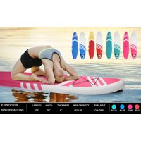 SUP Inflatable Paddle Boards, 10' Inflatable Paddle Board for Youth/Adult, Paddle Boat SUP Accessories With Pulp, Pump, Repair Kit, Durable and Lightweight Touring SUP, Non-Slip Deck, Pink, W2878