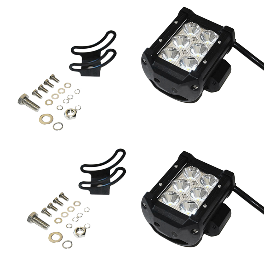2pcs 4 inch 18W LED Light Bar Work Spot Lamp Offroad Boat Car Truck New