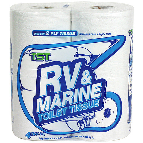 Camco Toilet Paper, RV & Marine Fast Dissolving, 4 Rolls