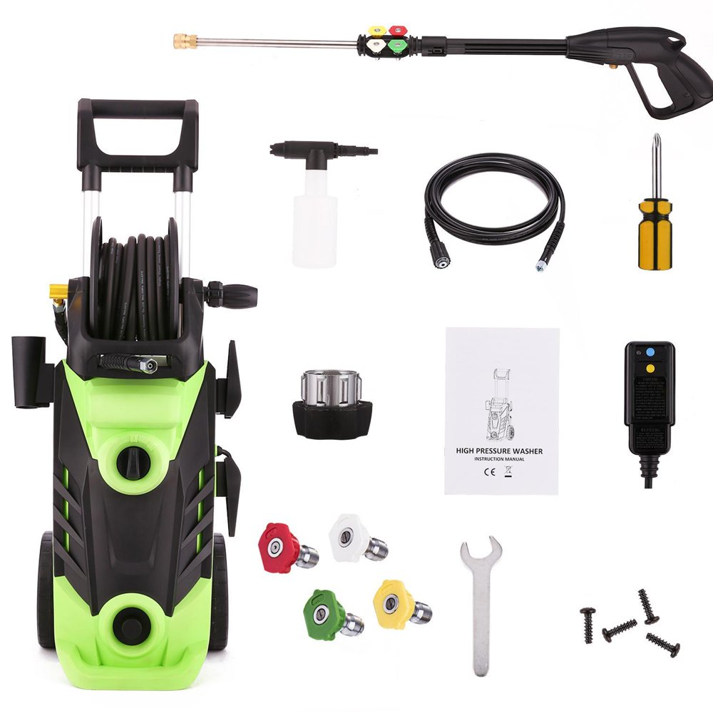 Max 3500PSI Electric High Pressure Washer 2.6GPM Cleaner Machine With Hose Reel,1800W
