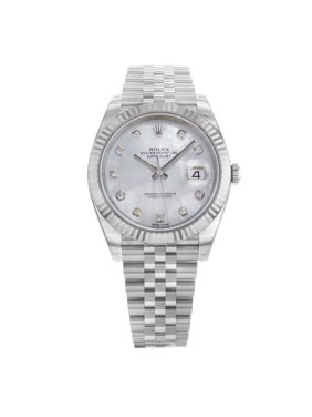Rolex Datejust 41 126334 MOPDJ 18K White Gold Steel Automatic Mens Watch