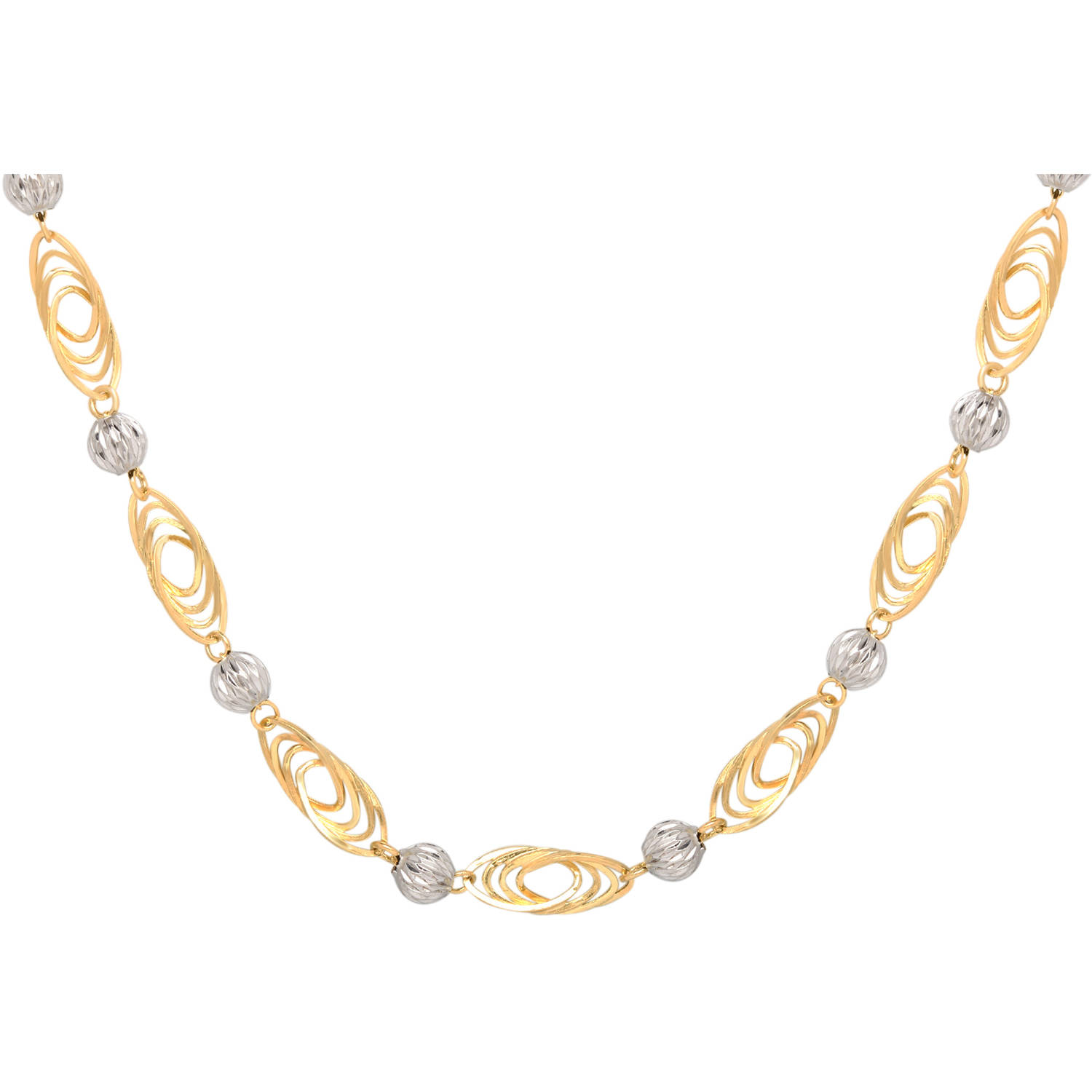 Simply Gold 14kt Yellow And White Gold O