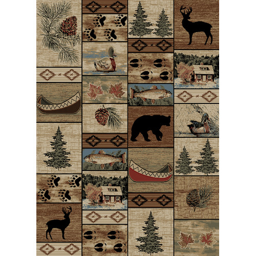 Mayberry Rug American Destinations Beige/Brown Area Rug