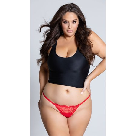 Yandy Plus Size Low Rise Lace G-string Panty, Plus Size Lace G-string Panty](Plus Size G String)