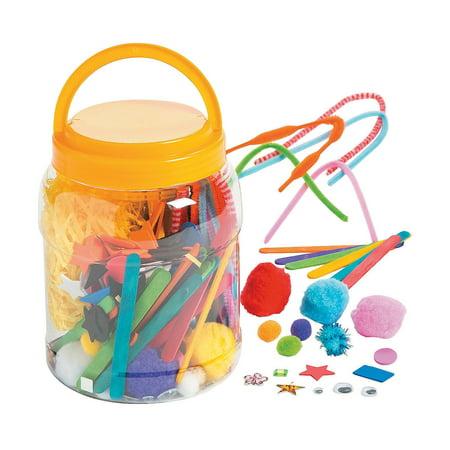 Fun Express - Jumbo Craft Bucket - Craft Supplies - Bulk Craft Accessories - Misc Bulk Craft Accessories - 155 Pieces Jumbo Craft Bucket - Craft Supplies - Bulk Craft Accessories - Misc Bulk Craft Accessories - 155 Pieces