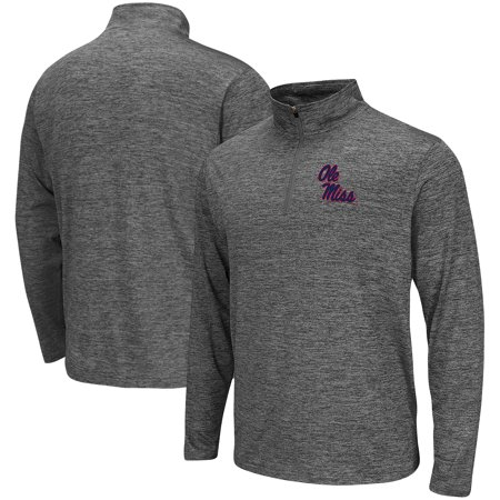 Ole Miss Rebels Colosseum Quarter-Zip Performance Pullover Jacket - Heathered Gray