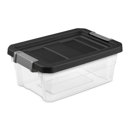 Sterilite 4 Gal  15 L Stacker Box  Black