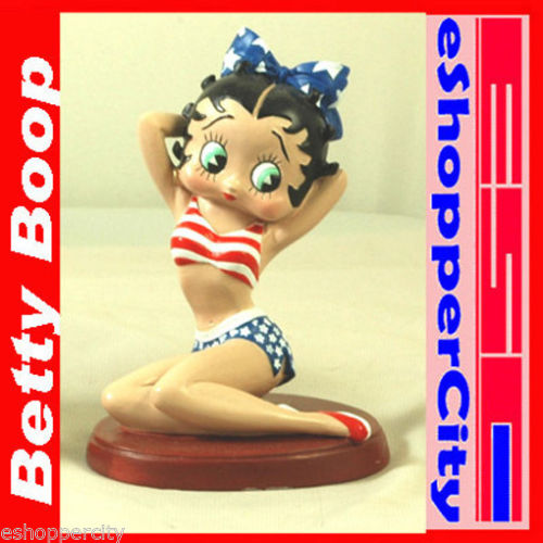 """Betty Boop Betty Boop 4.5"""" Patriotic Resin Figure Polyresin July 4"" 35004"