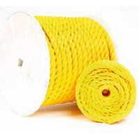 Koch 5001645 1//2 by 200-Feet Poly Twisted 3 Strand Rope Yellow