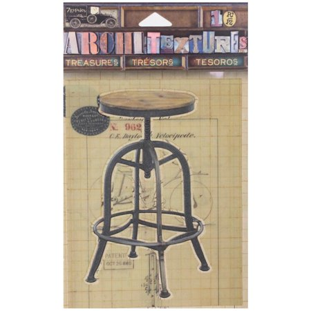 7 Gypsies Architextures Treasures Adhesive Embellishments-drafting Stool - Gypsy Treasure