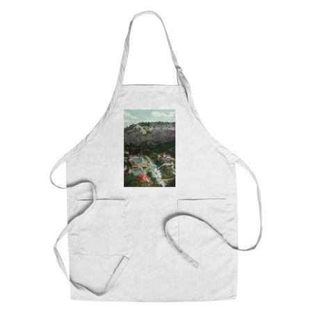 Eldorado Springs  Colorado   Southeastern Aerial View Of The Town  Cotton Polyester Chefs Apron