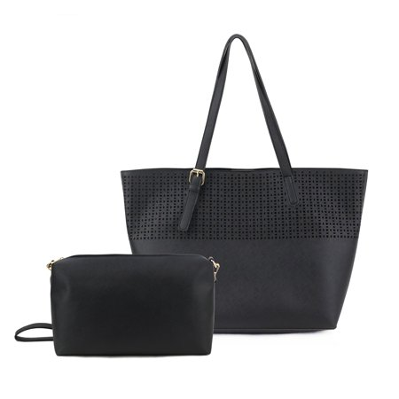 Om  Irena Perforated Tote Bag With Crossbody