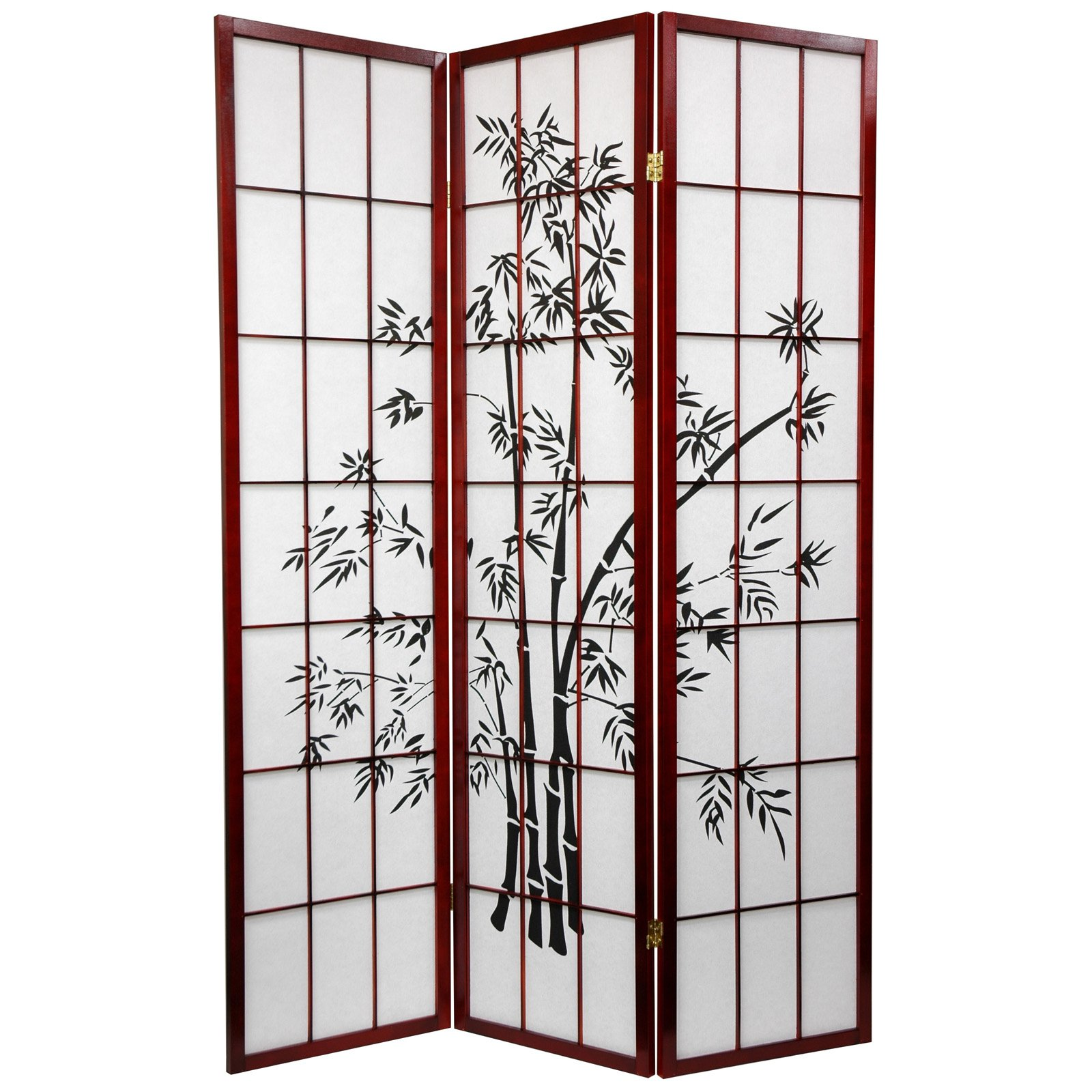 Oriental Furniture Lucky Bamboo Rosewood Room Divider