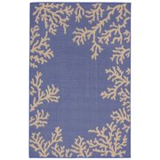 Liora Manne Terrace 1783/33 Coral Border Marine Area Rug 39 Inches X 59 Inches