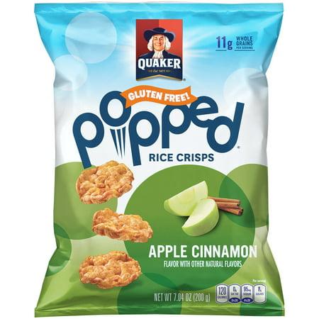 Quaker; Popped; Apple Cinnamon Rice Crisps, 7.04 oz. Bag