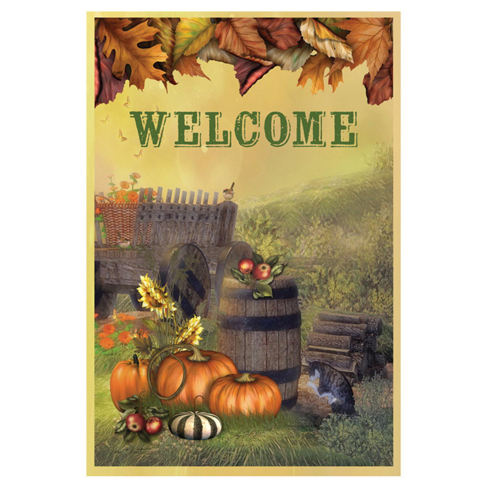 Toland Home Garden Autumn Cart Flag