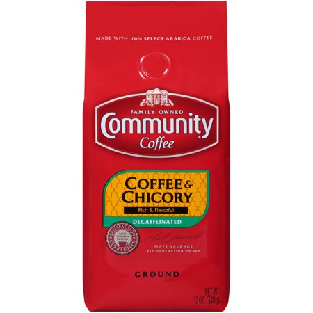 - Community® Coffee Coffee & Chicory Decaffeinated Coffee 12 oz. Bag