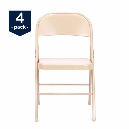 4 Pack Folding Chairs.Mainstays Steel Folding Chair 4 Pack Antique Linen