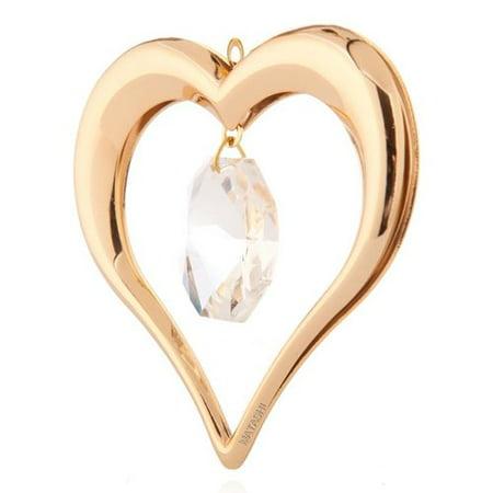 Gold Heart Ornaments - Matashi Crystal Heart Ornament