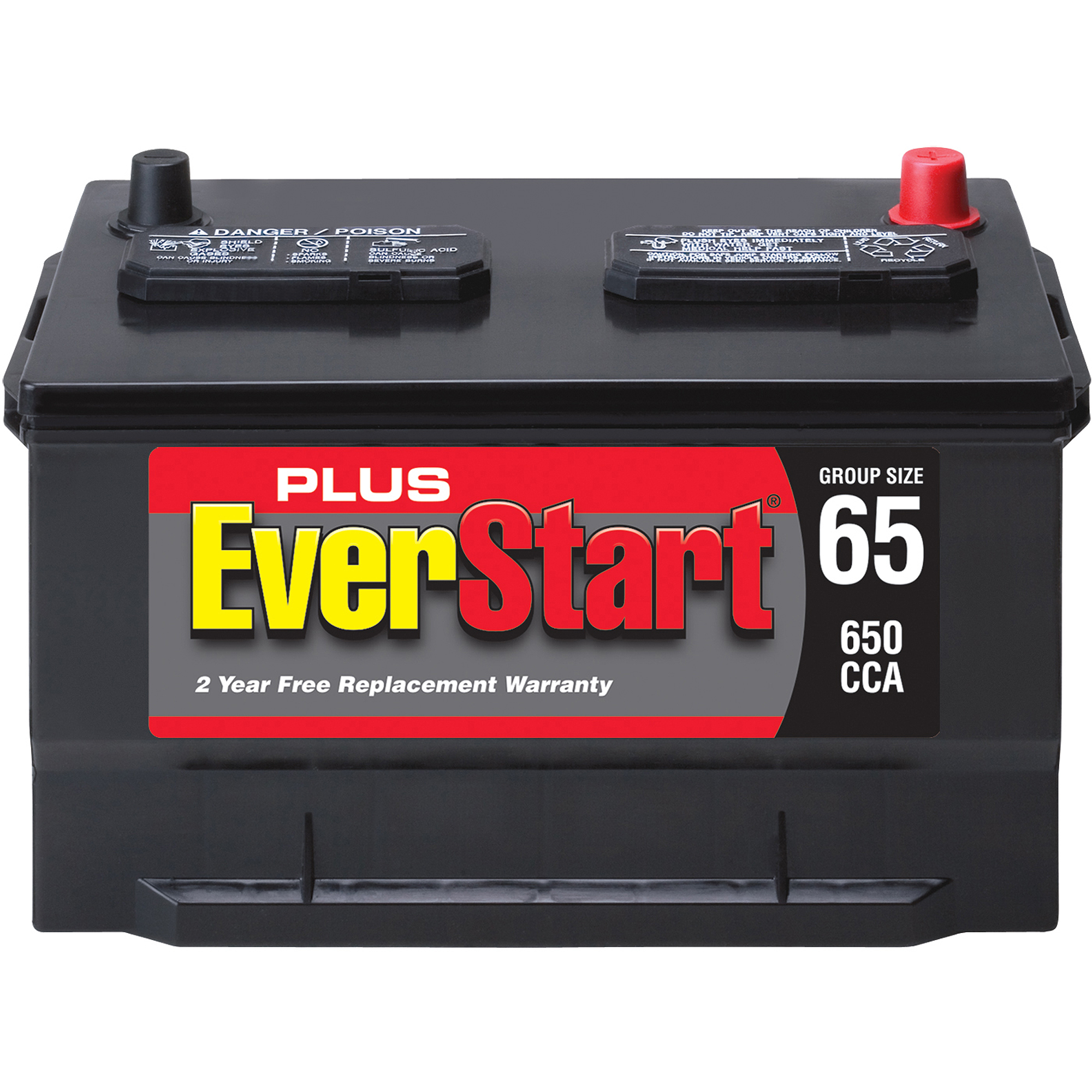 EverStart Plus Lead Acid Automotive Battery, Group Size 65-3