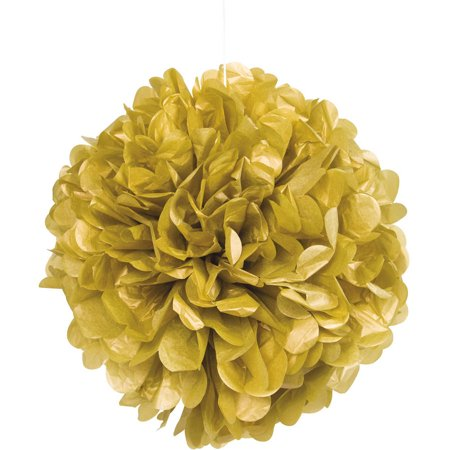 Tissue Paper Pom Pom, 16 in, Gold, - Diy Tissue Pom Poms