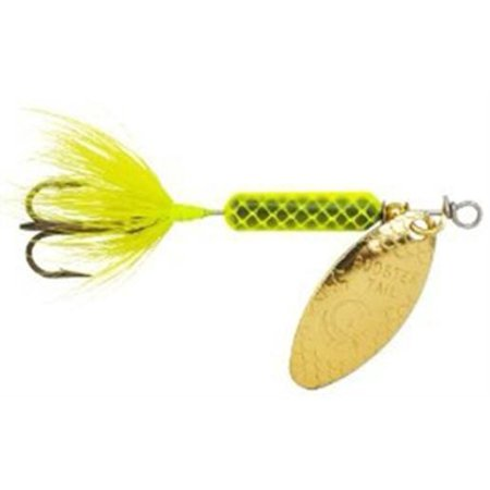 Yakima 218 chartreuse 1 ounce original rooster tail for Rooster tail fishing lure
