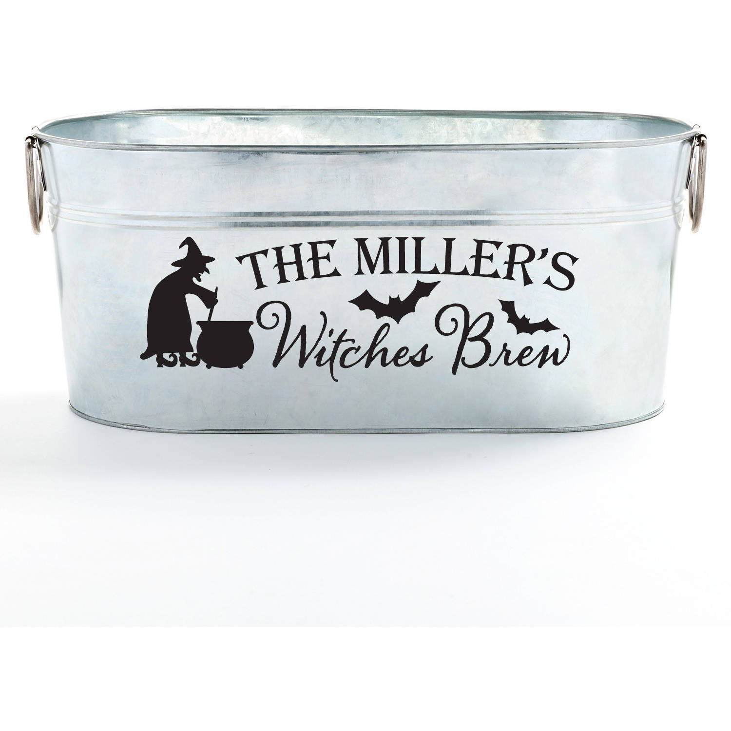 Personalized Beverage Tub - Halloween Witches Brew Supply