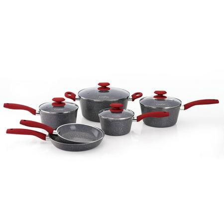 Reno Paint Mart >> CeraPan Marble Hill Ceramic Non-stick 10-piece Cookware Set, Gray