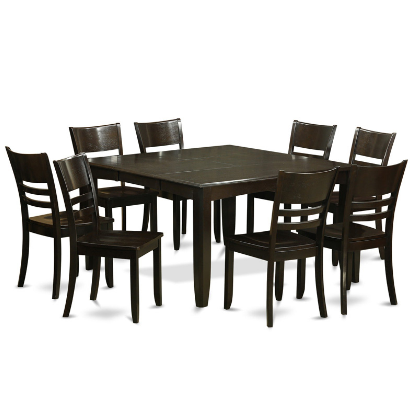 East West Furniture Parfait 9 Piece Mission Dining Table Set