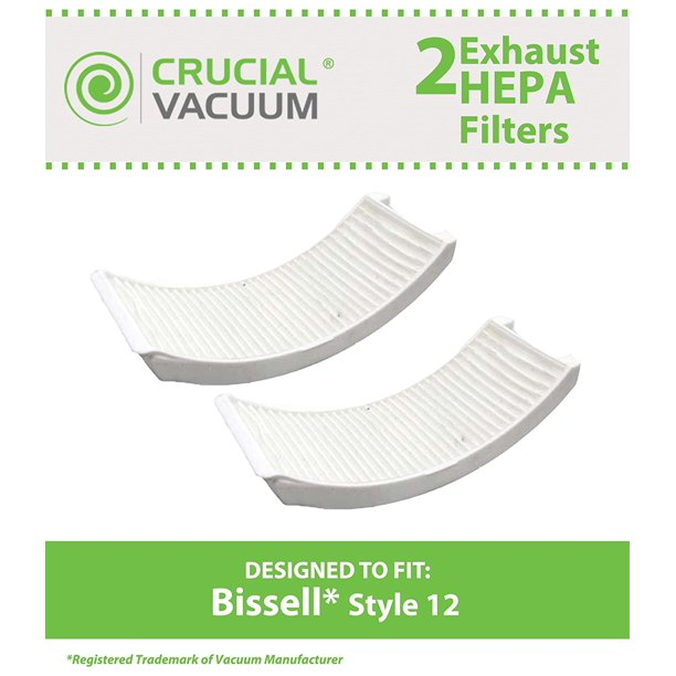 2 Bissell Style 12 Post Motor Hepa Style Exhaust Filters Compare To Part 203 1402 203 8037 Fits Bissell Powerforce Turbo By Think Crucial By Crucial Vacuum Walmart Com Walmart Com