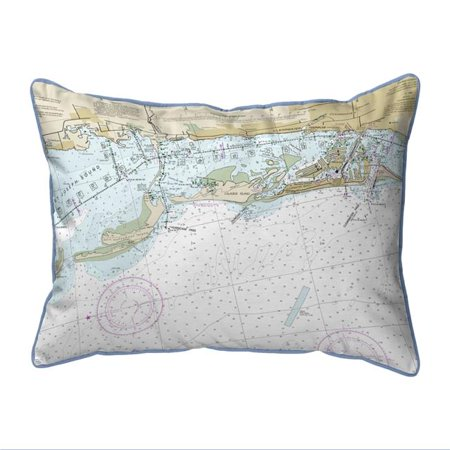 Betsy Drake ZP11411CD Clearwater Harbor, FL Nautical Map Extra Large Zippered Indoor & Outdoor Pillow - 20 x 24 in. ()